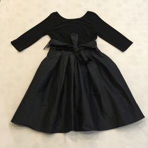 Adrianna Papell black cocktail dress w/ full skirt